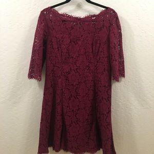 Eliza J Burgundy Dress